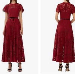 MONIQUE L'UILLIER Eyelet embroidered dress